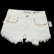 Miss Me Women's Signature Fringe Shorts JP7293H White 25 26 $89.50 Embroidered image 1