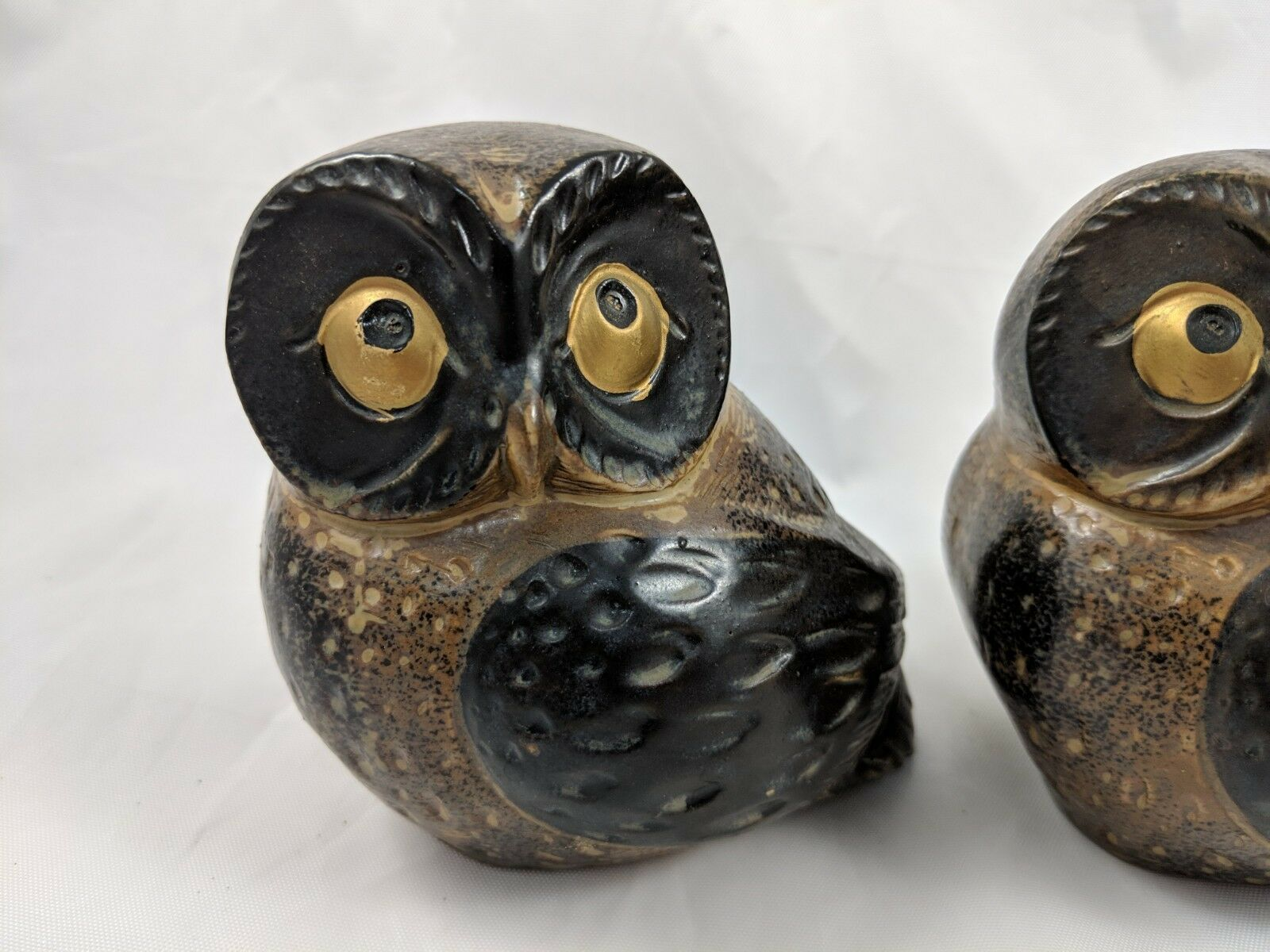 "Primary image for OMC Japan Owl Figures Lot of 3 Ceramic Pottery 4"" Vintage"
