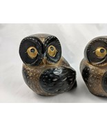 "OMC Japan Owl Figures Lot of 3 Ceramic Pottery 4"" Vintage - $24.95"
