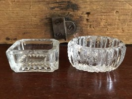 Lot #18 / Clear Pressed Glass Salt Cellar Set of 2 - $19.99