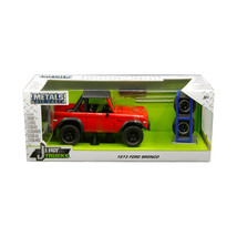 1973 Ford Bronco Red with Matt Black Top and Extra Wheels Just Trucks Se... - $39.48