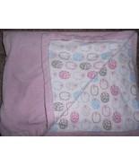 Hudson Baby HB Baby Vision Blanket Pink White Lambs Sheep Girls  - $17.70