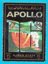 Used Ajman Airmail Stamp (1973) Apollo 16 - 1 3/4r - $1.99