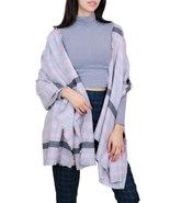 7 Seas Republic Women's Grey Striped Fringe Oblong Scarf - $23.99