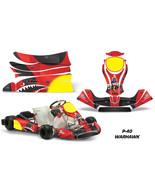 Go Kart Graphics Kit Decal Sticker Wrap For KG Freeline Birel Cadet WARH... - $128.65