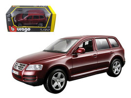 Volkswagen Touareg Burgundy 1/24 Diecast Model Car by Bburago - $34.37