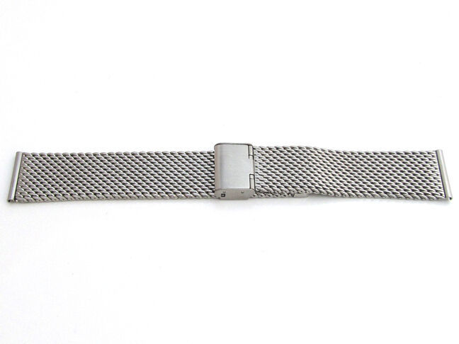 Primary image for Mens Ladies Watch Strap SHARK MESH CHAINMAIL Stainless Steel Adjustable Bracelet
