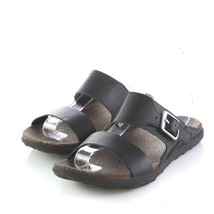 Merrell Select Move Black Leather Sandals Slides Shoes Buckle Womens 8 M - $49.38
