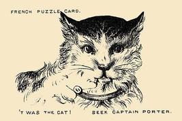 Twas The Cat. Seek Captain Porter by Theo Leonhardt & Son - Art Print - $19.99+