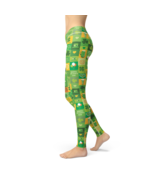 Avery Shamrock Blocks yoga Leggings - $36.98