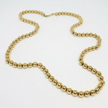 Vintage NAPIER  Gold Metal Bead Statement Necklace Fashion Costume Jewel... - $8.97