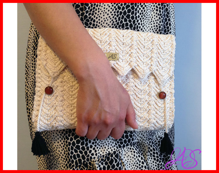 Clutch Crochet Pattern With Tassels Clutch And Similar Items