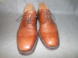 VINTAGE JOHNSTON & MURPHY CELLINI MEN'S BROWN OXFORD 9 1/2 M  ITALY NO R... - $14.99