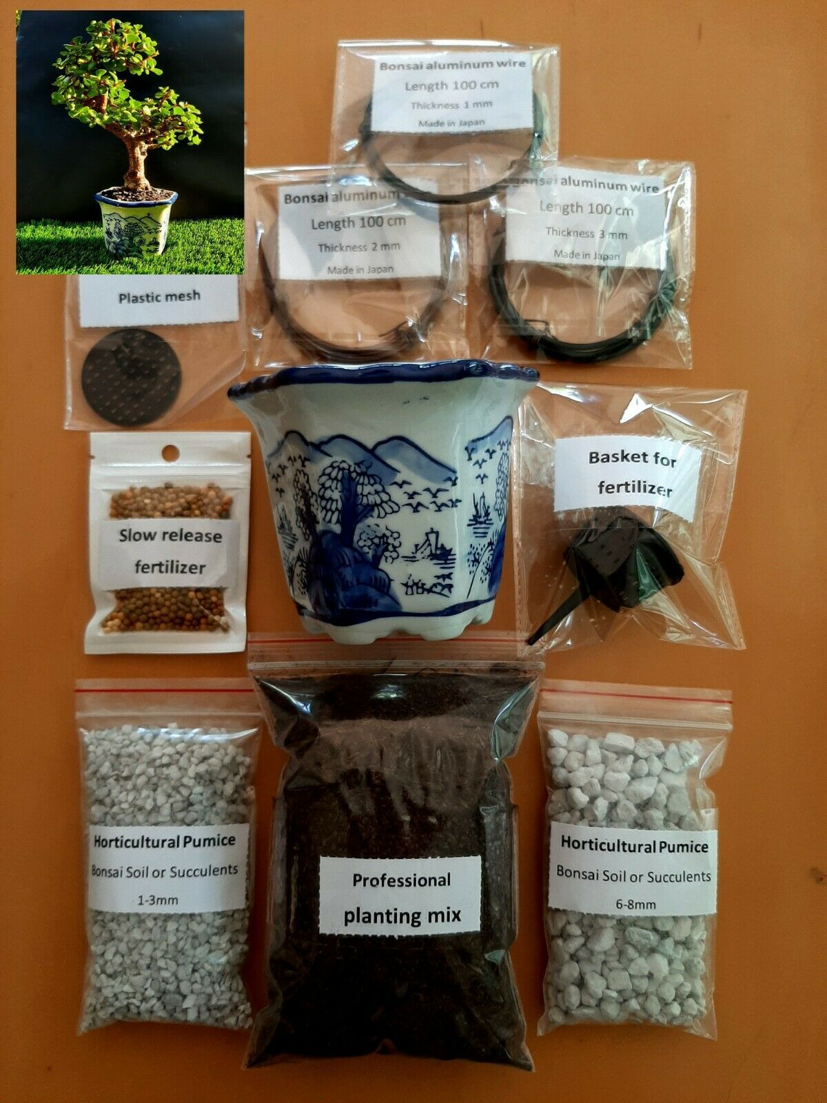 Kit for bonsai and Succulents Perfect set - 11 items - $47.04
