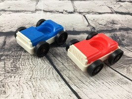 Vintage Fisher Price Little People Cars Red Blue Small - $9.89