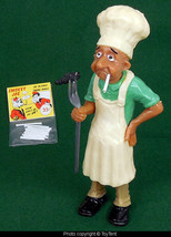 Smoking chef blows smoke rings grill master figurine with novelty cigare... - $38.61