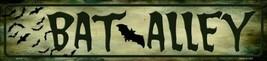 """Bat Alley Halloween Metal Mini Street Sign 4"""" x 18"""" Wall Decor - DS - $23.95"""