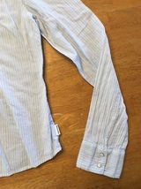 Abercrombie Girl's Blue & White Striped Long Sleeve Dress Shirt - Size XL image 8