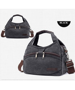 Women's Canvas Handbags Female Hobos Single Shoulder Bags Woman Crossbod... - $30.87