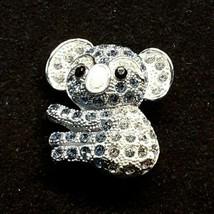 Vintage Blue White Koala Bear Rhinestone Unbranded Brooch Pin EUC - $13.09