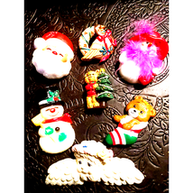 Very Old-Lot of Seven Christmas Brooches - $13.86