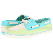 Sperry Top-Sider Women's Bahama 2 Eyes Shoes, Aqua/ Yellow /White, 5M - $34.64