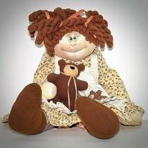 Anne Klocko Squeaky Cheeks Vintage Doll Dakin Teddy Bear Plush Apron Red... - $29.69