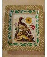 JOHN DERIAN Decoupage Rectangle Peacock Handmade Hand Painted SIGNED Tra... - $74.20