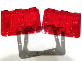 United Pacific F67801-2SET 1967-68 Ford Mustang Tail Light Lens& Gasket Set - $44.54