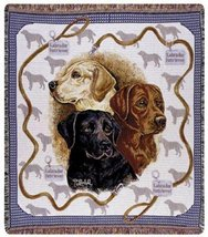 50x60 Labrador Retriever Dog Tapestry Throw Blanket - $46.00