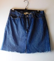 Gap Jeans Women's Denim Skirt - Size 10 - 100% Cotton - 5 Pocket - Frayed Hem - $12.19
