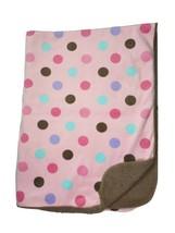 GARANIMALS Pink Polka Dot Brown Sherpa Baby Blanket Lovey Purple Blue Wa... - $18.39