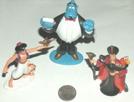 "(3) 1992 Disney mattel aladdin 3"", 4"", 3.25"" genie jafar figures loose GD - $22.75"