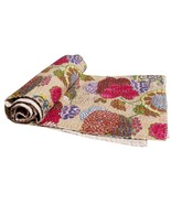 Indian Handmade Kantha Quilt Bed Throw Bedding Duvet Cover Bohemian Cove... - $36.79+