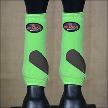 Medium Hilason Horse Front Leg Sport Boot Ultimate Protection Lime Black U-LK-M - $49.95