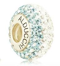 Alducchi Topacio Azul - Transparente Cristal Swarovski 925 Plateado Char... - $19.95