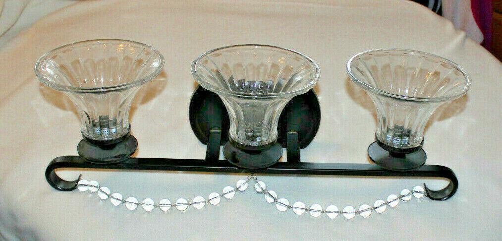 Set of 2 Progress Lighting Bliss Antique Bronze Bathroom 3 Light Vanity & Sconce - $120.45