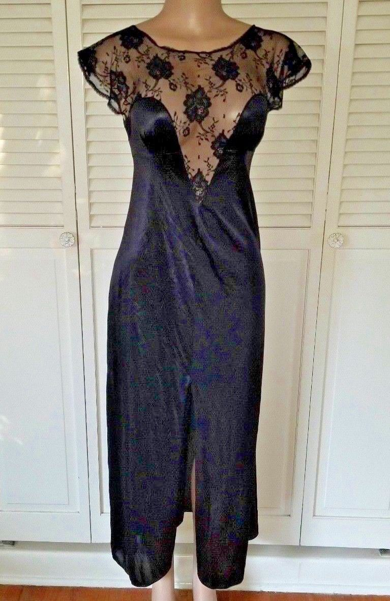 2983a9fbf Vtg Kayser Black Nightgown Lingerie Negligee and 50 similar items. 57