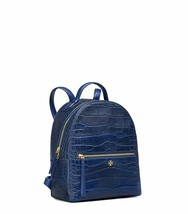 Tory Burch Women's Navy Blue Croc-Embossed Leather Mini Backpack Book Ba... - $344.52