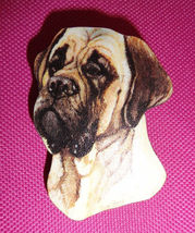 Golden Fawn Colored Old English Mastiff Dog Breed Lightweight Wooden Pin - $3.50