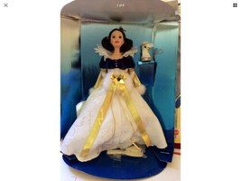 Disney Collection Doll Holiday Princess Snow White Unused 3rd Edition 1998 - $18.49