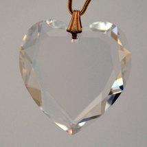 Swarovski Clear Crystal Flat Heart Prism image 2