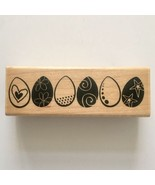 Half Dozen Eggs Rubber Stamp Easter Egg Decorated Stampabiities Wood Mou... - $5.45