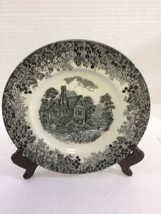 Wedgwood Romantic England Black Huddington Court Salad plates ▬ Set of 3 - $38.65