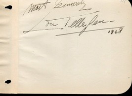 LOU TELLEGEN Autograph. Nicely signed. Dutch actor. - $39.59