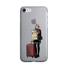 Cute Fashion Travel map Girl infant & mom Phone Case For iPhone X 10 7 8 1 - $14.00