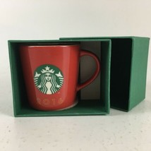 Starbucks Espresso Cup 2016 Christmas Holiday Red Classic Mini Mug New 3... - $10.39