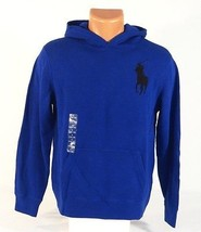 Polo Ralph Lauren Blue Hooded Knit Pullover Sweater Hoodie Youth Boys La... - $59.39
