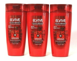 3 Bottles L'Oreal Paris 25.4 Oz Elvive Linseed Color Vibrancy Protecting... - $38.99