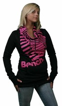 Bench UK Code-Barres par la Tête Noir Rose Pull L Large Chemise
